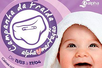 Parceria Martagão e Alpha Fitness: doe de fraldas descartáveis