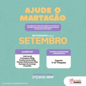 Necessidades do Mês: ajude o Martagão a cuidar de 80 mil crianças por ano