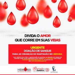 Hospital Martagão Gesteira necessita de doação de sangue
