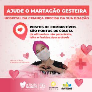 Mais de 30 postos de combustíveis são pontos de coleta de campanha para ajudar Martagão