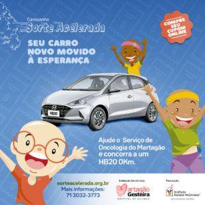 Martagão é um dos beneficiados da campanha Sorte Acelerada do Instituto Ronald McDonald
