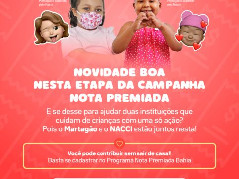 Campanha Nota Premiada segue ajudando instituições como o Martagão e o Nacci