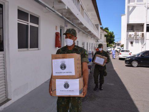 Hospital recebe mais de meia tonelada de leite em pó do Comando Conjunto Bahia