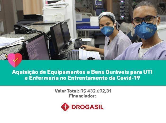 Investimentos realizados em equipamentos e bens duráveis necessários para complementar uma estrutura já existente em nossa UTI especializada e enfermaria para atender os casos pediátricos do COVID-19.