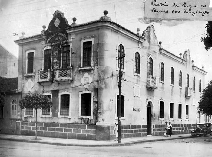 Primeira sede da Liga Álvaro Bahia, localizada no Campo Grande em Salvador.