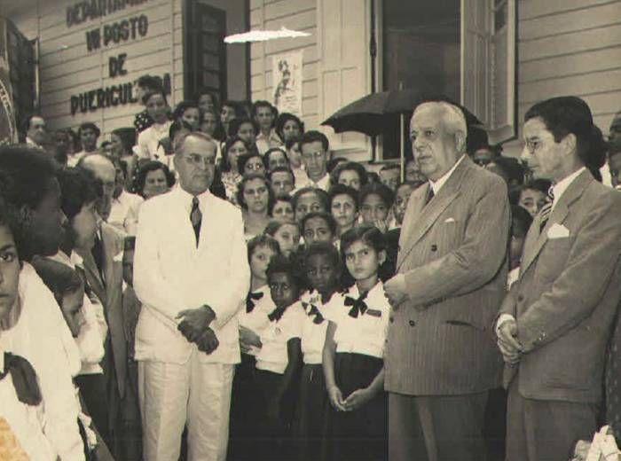 Inauguração do Posto de Puericultura de São Caetano, com a presença do governador Otávio Mangabeira (déc. 50)
