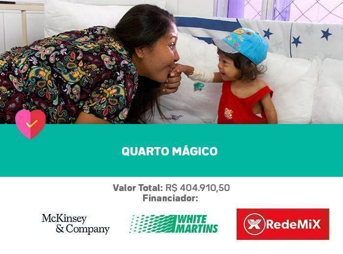 Adequação dos leitos do 4º andar do Hospital Martagão Gesteira, para a oferta de espaços adequados e confortáveis ao internamento das crianças e adolescentes atendidas.